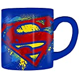 Silver Buffalo SP110232 DC Comics Superman Splatter Paint Logo Ceramic Mug, 14-Ounces