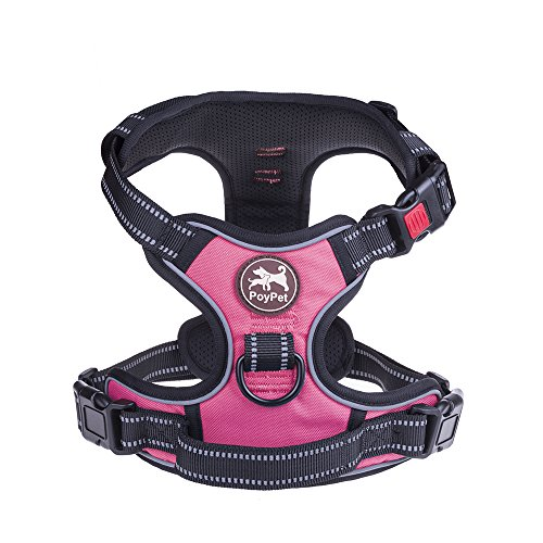 PoyPet No Pull Dog Harness, No Choke Front Lead Dog Reflective Harness,...