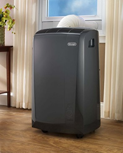 DeLonghi-3-in-1-Portable-Air-Conditioner-Dehumidifier-Fan-Remote-Control-Wheels-600-Sq-Ft-Extra-Large-Room-8500-DOE-14000-BTU-ASHRAE-Dark-Gray-PACN285GN