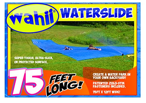 Wahii WaterSlide 75' x 12' - World's Biggest Backyard Lawn Water Slide