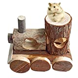 B&P Natural wood Little train Hamster toys Pet products 5.91x6.3x4.33in