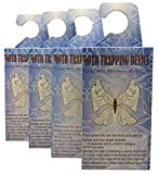 MOTH TRAPS Highly Effective Clothes with Natural Attractant Case-Making, Carpet, Webbing Moth, Pro Cloest Essentials Get Rid of Wool Moths with Natural Safe and Odor-Free 4 Traps