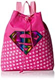 Warner Brothers Girls' Supergirls Mini Backpack, HOT Pink