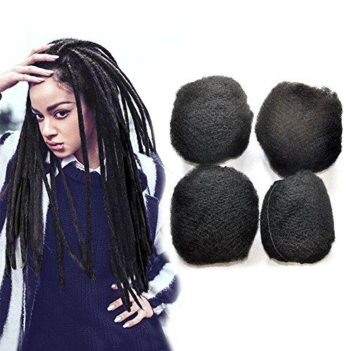 Yonna Hair 4pcs/lot Tight Afro Kinky Bulk Hair 100% Human Hair For DreadLocks,Twist Braids Off Black #1B,8'