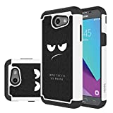 for Samsung Galaxy J3 Emerge Case, J3 Prime / J3 2017 / J3 Mission / J3 Luna Pro / J3 Eclipse/Express Prime 2 / Amp Prime 2 / Sol 2 Case, LEEGU Dual Layer Protective Case - Don't Touch My Phone