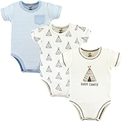 Touched by Nature Unisex Baby Organic Cotton Bodysuits, Teepee 3-Pack, 18-24 Months (24M)