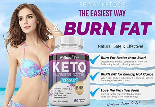 (3 Pack) Keto Diet Pills - Max Strength 1200mg Utilize Fat for Energy with Ketosis - Boost Energy & Focus, Manage Cravings, Support Metabolism - Keto BHB Supplement for Women and Men 7