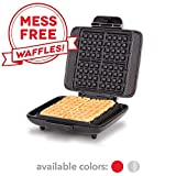 DASH No Mess Belgian Waffle Maker: Waffle Iron 1200W + Waffle Maker Machine For Waffles, Hash Browns, or Any Breakfast, Lunch, & Snacks with Easy Clean, Non-Stick + Mess Free Sides - Silver