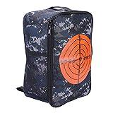 Target Pouch Storage Bag,Multifunctional Shooting Bullet Carry Equipment Bag Kids Target Practice Bag Backpack Case for Nerf Gun N-Strike Games