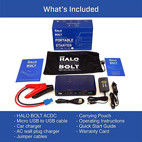 HALO-Bolt-58830-mWh-Portable-Phone-Laptop-Charger-Car-Jump-Starter-with-AC-Outlet-and-Car-Charger-Blue-Graphite