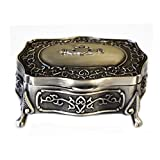 Claddagh Celtic Jewelry Box Heart-Shaped Pewter Made in Ireland