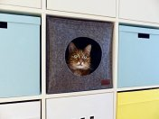 Cat-Cave-for-IKEA-and-WALMART-shelf-units-hand-sewn-premium-natural-quality-felt-material-self-warming-pillow-included-modern-stylish-design-also-for-big-cats-Cat-Bed-clearance-prime