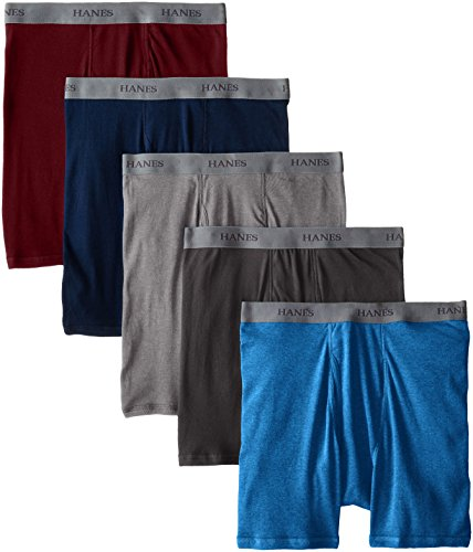 Hanes Ultimate Men's 5-Pack Dyed Boxer Brief - Colors May Vary, Assorted Colors, Large