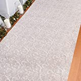 Fun Express Polyester Two Hearts Wedding Aisle Runner - 100 Foot