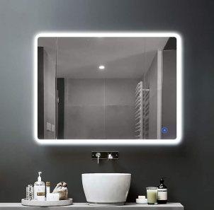 FACAI Illuminated LED Bathroom Mirror with Shaver Socket