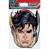 Justice League Party Masks, 8ct