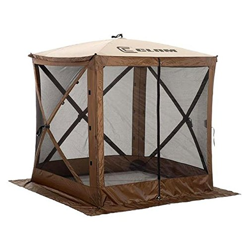 Quick Set 9881 Traveler Shelter, 72 x 72-Inch Portable Popup Gazebo Durable Tent Bug and Rain Protection Easy Setup (3-4 Person), Brown/Beige
