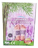 Lavender Bamboo Foot Pads - FDA Certified - 100% Natural Plant Based Product -Stress and Pain Relief Removes Impurities Improves Sleep -Upgraded-