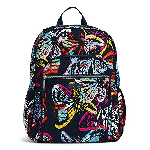Vera Bradley Iconic Campus Backpack, Signature Cotton, butterfly flutter