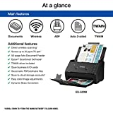 Epson WorkForce ES-500W Wireless Color Duplex Document Scanner for PC and Mac, Auto Document Feeder (Renewed)