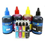 CISinks Refillable Cartridge Kit with Refill Ink Bottle Set for Brother LC203 LC205 MFC J4320DW J4420DW J4620DW J5520DW J5620DW J5720DW J460DW J480DW J485DW J680DW J880DW J885DW J4625DW