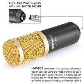 Neewer-NW-800-Professional-Studio-Broadcasting-Recording-Microphone-Set-Including-1NW-800-Professional-Condenser-Microphone-1Microphone-Shock-Mount-1Ball-type-Anti-wind-Foam-Cap-1Microphone-Power-Cabl