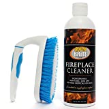Fireplace Cleaner Kit by Quick 'n Brite, 16 oz - Brick soot and Smoke Cleaning; Includes Free Brush; Non Toxic Cleans Glass, Brick, Tile, Stone, River Rock Removes soot, Smoke, Creosote & More