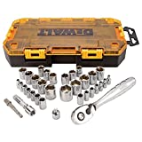 DEWALT DWMT73804 Drive Socket Set (34 Piece), 1/4' and 3/8'