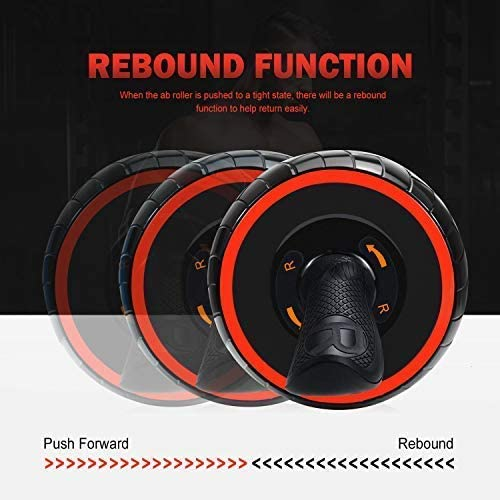 June Fox Ab Roller Wheel for Abs Workout Ab Carver Abdominal Exercise Equipment with Knee Pad 5