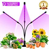 Grow Light, Ankace 2019 Upgraded Version 60W Tri Head Timing 60 LED 5 Dimmable Levels Plant Grow Lights for Indoor Plants with Red Blue Spectrum, Adjustable Gooseneck, 3 6 12H Timer, 3 Switch Modes