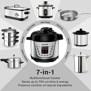 COSORI-Mini-21-Qt-7-in-1-Multi-Functional-Programmable-Pressure-Cooker-Slow-Cooker-Rice-Cooker-Saut-Steamer-Yogurt-Maker-Warmer-Includes-Glass-Lid-Sealing-Ring-and-Recipe-Book