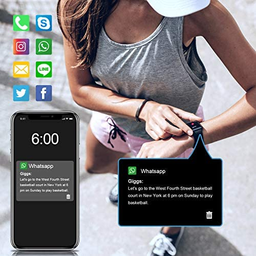 """Letsfit Smart Watch, Fitness Tracker with Heart Rate Monitor, Activity Tracker with 1.3"""" Touch Screen, IP68 Waterproof Pedometer Smartwatch with Sleep Monitor, Step Counter for Women and Men 6"""