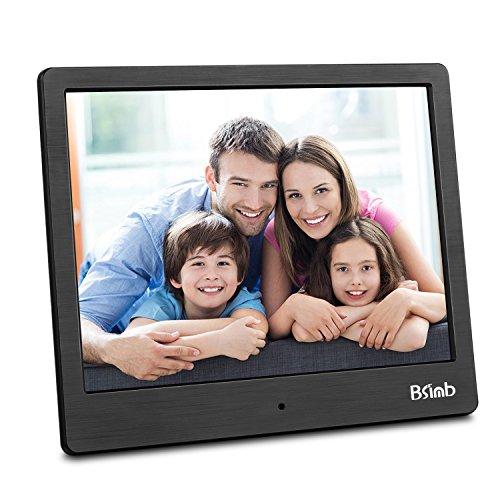 Digital Picture Frame 8 Inch Remote Control 1024768 Digital Photo Frame Support Picture/Video/Calendar/Clock Maximum Extend to 256G BSIMB Black