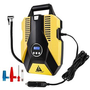 Digital Tire Inflator, 12V DC Portable Air Compressor Pump for Car Tires, 150 PSI Auto Shut Off with Emergency LED… 51Dc30vGwnL