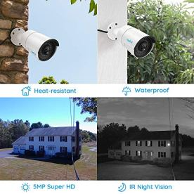 Reolink-5MP-PoE-Camera-Pack-of-2-Outdoor-Indoor-Video-Surveillance-Work-with-Google-Assistant-IP-Security-IR-Night-Vision-Motion-Detection-Audio-Support-SD-Card-Slot-RLC-410-5MP