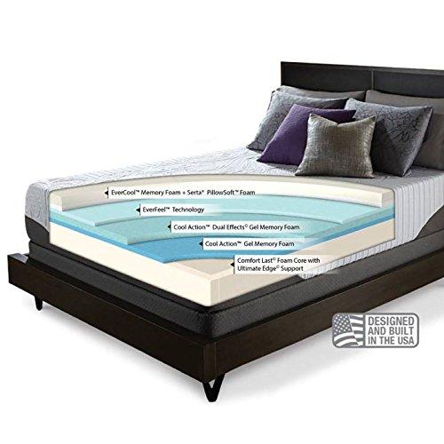 Serta icomfort prodigy everfeel mattress with low profile California king box spring