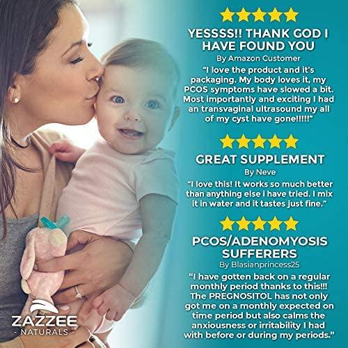 Zazzee PREGNOSITOL, 60 Day Supply, Premium Myo-Inositol, D-Chiro-Inositol, and Folic Acid Blend, Ideal 40:1 Ratio, 60 Easy-Tear Packets, Vegan, All Natural and Non-GMO 3