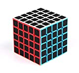 cfmour Rubiks Cube, Rubix Cube Speed Cube 5x5x5, Smooth Magic Carbon Fiber Sticker Rubix Speed Cubes, Enhanced Version,Black