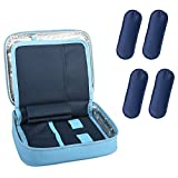 Goldwheat Insulin Bag Travel Cooler Diabetic Care Organizer Travel Kits Medical Cooler Epipen Case with 4 Ice Packs