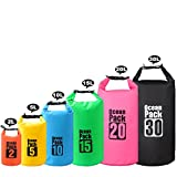 2L/3L/5L/10L/15L/20L/30L 500D Tarpaulin Heavey-Duty PVC Water Proof Dry Bag Sack for Kayaking/Boating/Canoeing/Fishing/Rafting/Swimming/Camping/Snowboarding