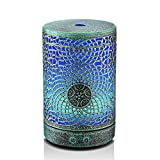 Vintage Aromatherapy Essential Oil Diffuser,100ml Bronze Metal Air Diffuser Cool Mist Humidifier with Adjustable Mist Mode,Waterless Auto Shut-off & 7 Color Changing Lights for Decor Home Office