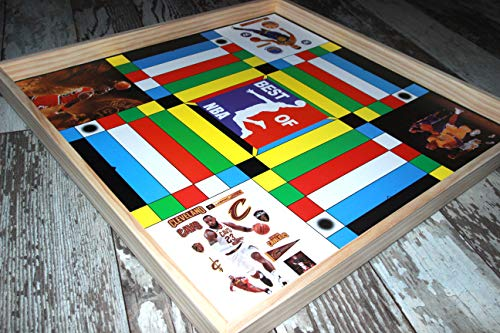 Jamaican Ludo NBA Edition (Ludi/Ludy) | 24in x 24in Board Game | Family Game Night Activity | Fun Easy Multi-Player Entertainment