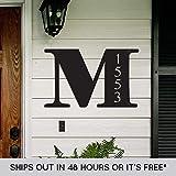 Custom Metal Address Sign - Last Name Letter Address Sign - Metal Address Sign - Outdoor Sign - Address Plaque - Housewarming Gift - Moving