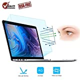 FORITO 2-Pack Compatible MacBook Pro 15 Inch Screen Protector -Blue Light Filter, Eye Protection Blue Light Blocking & Anti Glare Screen Protector for Apple MacBook Pro 15 Model A1707 A1990