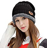 Product review of HindaWi Winter Slouchy Beanie Gloves for Women Knit Hats Skull Caps Touch Screen