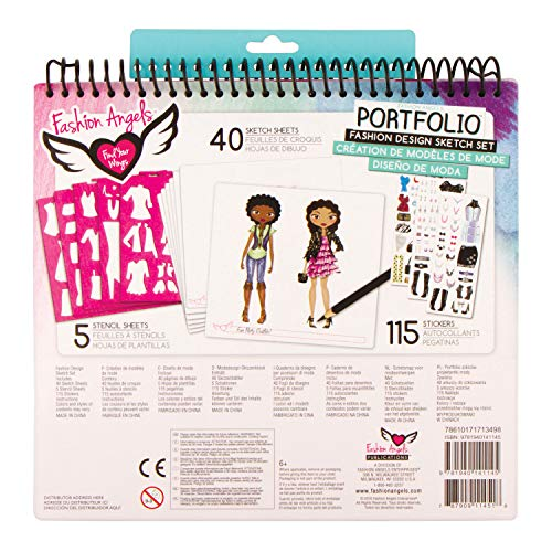 Fashion Angels Fashion Design Sketch Portfolio 11451 Full Size Sketch Book Fashion Coloring For Kids Brown A Lance Publishing Studio