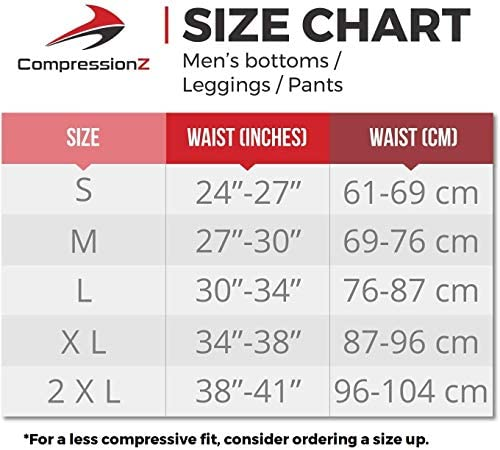CompressionZ Men's Thermal Compression Pants Base Layer Running Tights Athletic Leggings for Winter 6
