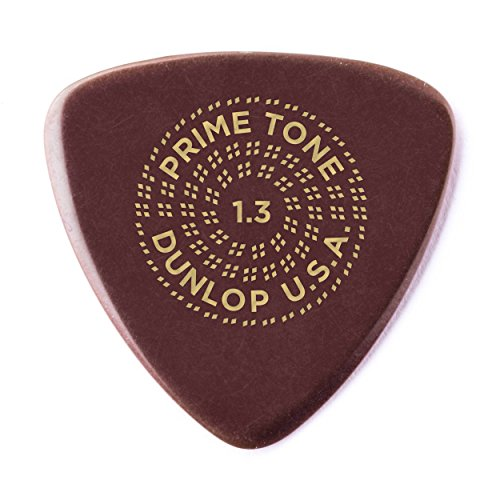 Dunlop Primetone Small Triangle 1.3mm Sculpted Plectra (Smooth) - 3 Pack