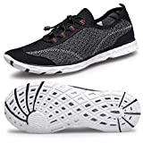 Alibress Men's Sports Water Shoes Slip On Breathable Aqua Shoes for Men Lightweight Barefoot Aerobic Men's Grey Beach Surfing Shoes 7 M US