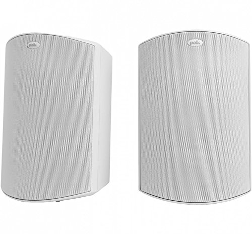 Polk Audio Atrium 5 Outdoor Speakers with Powerful Bass (Pair, White) - All-Weather Durability, Broad Sound Coverage, Speed-Lock Mounting System (Pack of 2)
